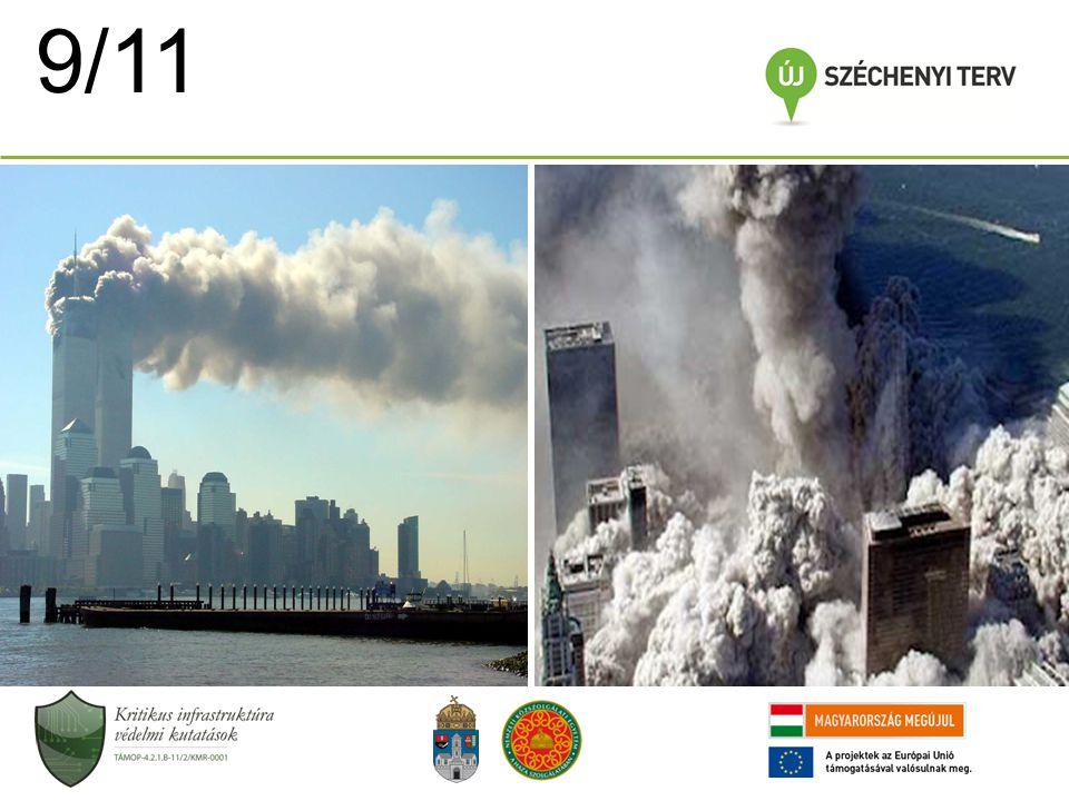 EU 2003 óta az EU biztonsági stratégiában is említésre kerül 2005-ig a terrorizmus elleni védelemhez kötötte (létfontosságú infrastruktúrákat fenyegető terrortámadások) 2004-ben a Tanács utasította a Bizottságot a kritikus infrastruktúrák védelmére vonatkozó stratégia kialakítására 2005-ben kiadja a Kritikus Infrastruktúrák Védelmének Európai Programját (EPCIP) A Zöld könyvben irányelvek szerepelnek (1) a kritikus infrastruktúra védelem átfogó megközelítésére és (2) a konkrét kritikus infrastruktúrák jegyzékének összeállítására 2006-ban javaslat információs figyelmeztető hálózatra