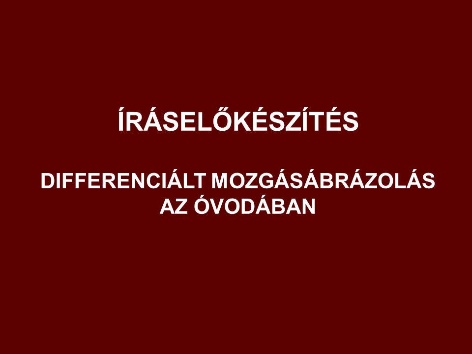 ÍRÁSELŐKÉSZÍTÉS DIFFERENCIÁLT MOZGÁSÁBRÁZOLÁS AZ ÓVODÁBAN