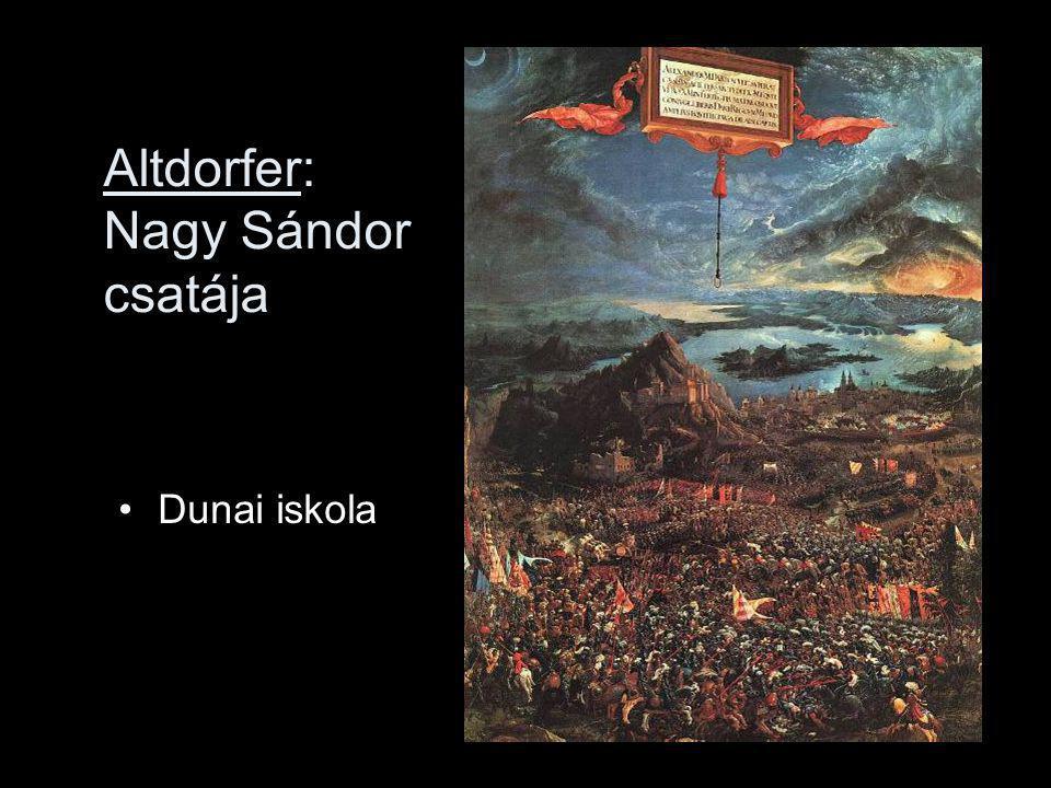 Altdorfer: Nagy Sándor csatája Dunai iskola