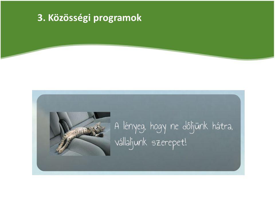 3. Közösségi programok