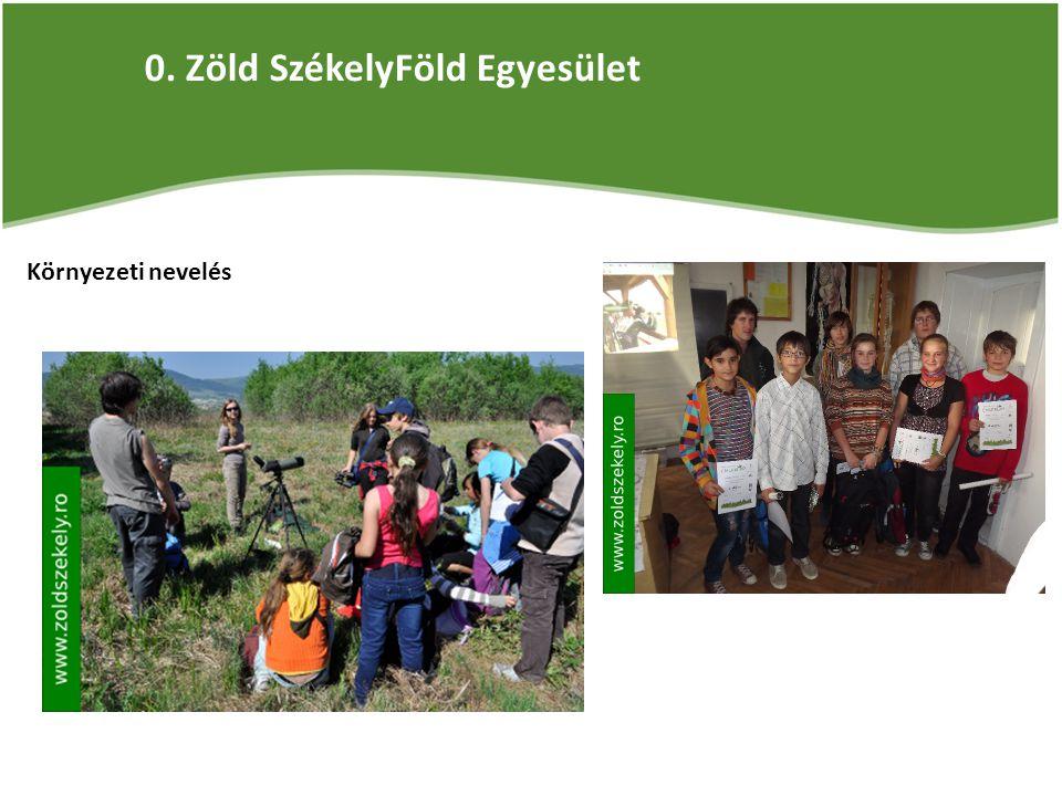 0. Zöld SzékelyFöld Egyesület Környezeti nevelés