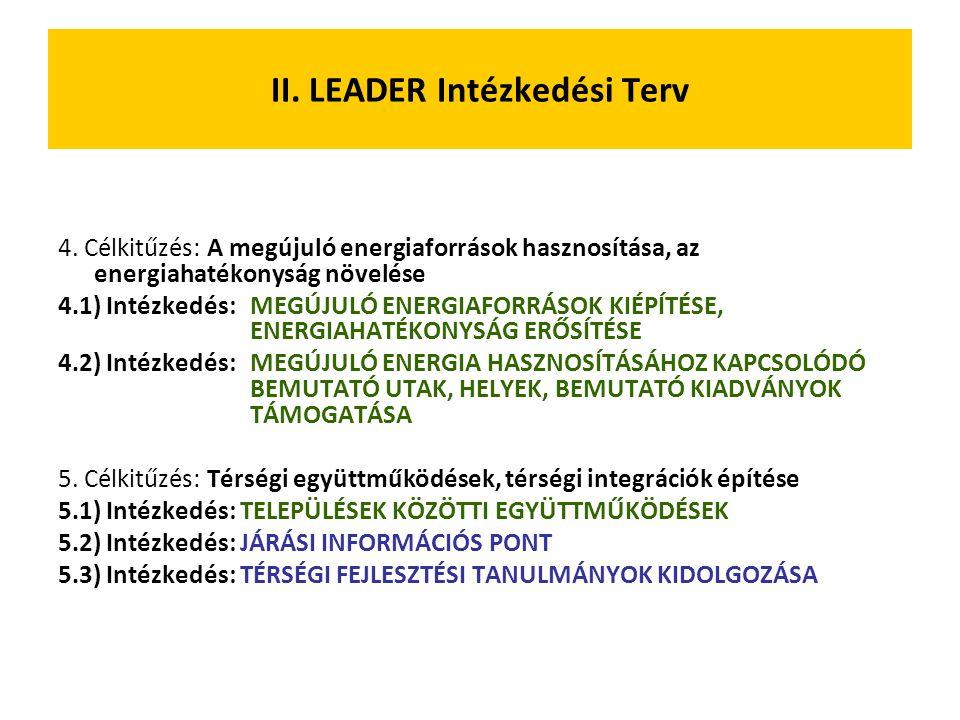 4. Célkitűzés: A megújuló energiaforrások hasznosítása, az energiahatékonyság növelése 4.1) Intézkedés: MEGÚJULÓ ENERGIAFORRÁSOK KIÉPÍTÉSE, ENERGIAHAT