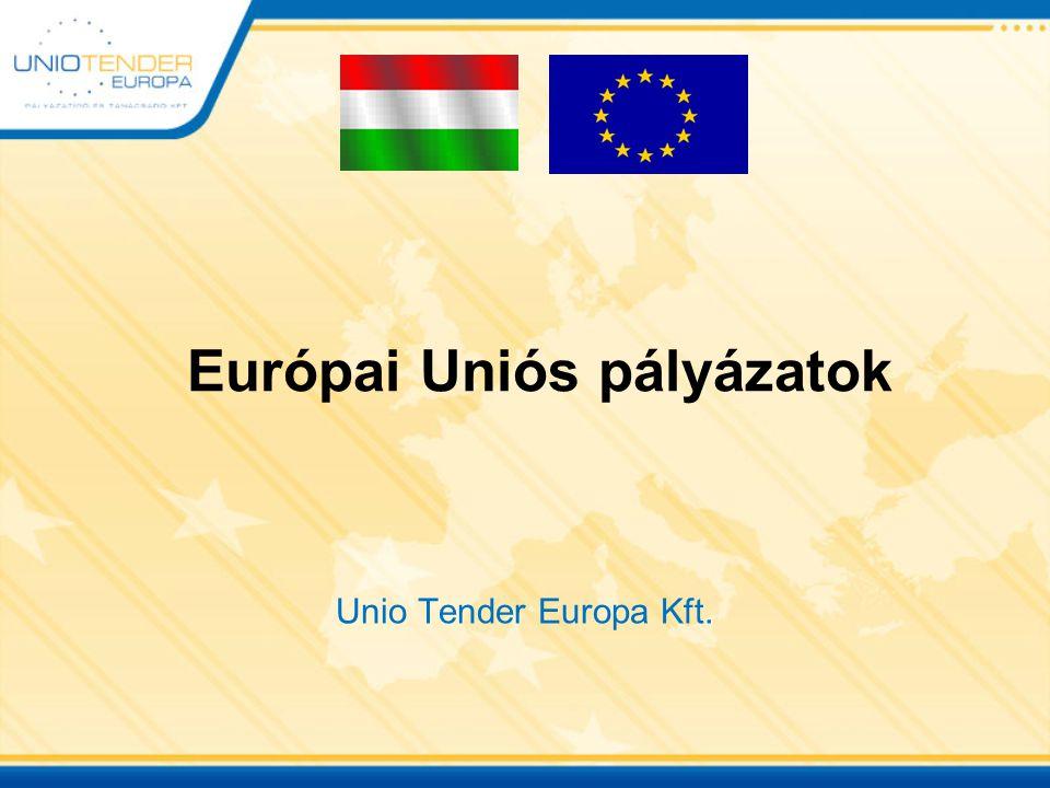 Európai Uniós pályázatok Unio Tender Europa Kft.