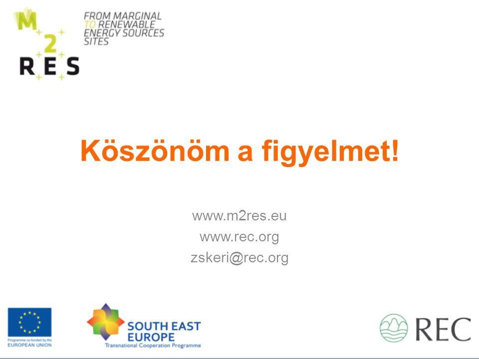 Köszönöm a figyelmet! www.m2res.eu www.rec.org zskeri@rec.org