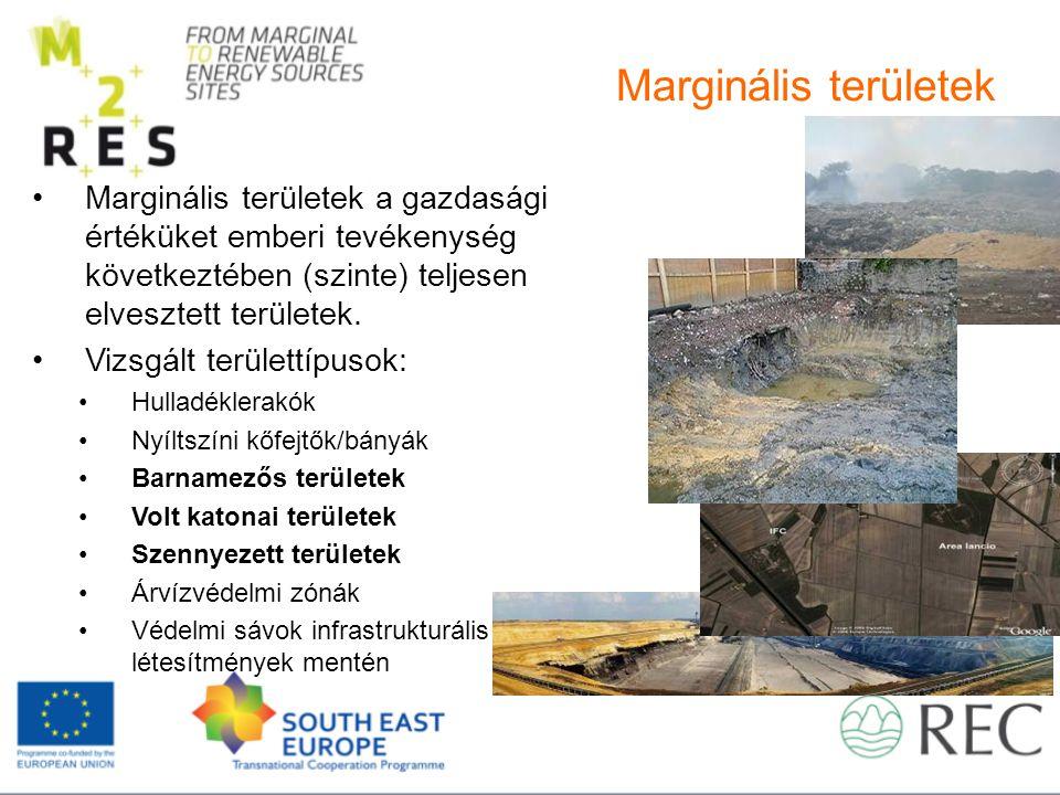 Marginális területek Marginális területek a gazdasági értéküket emberi tevékenység következtében (szinte) teljesen elvesztett területek.