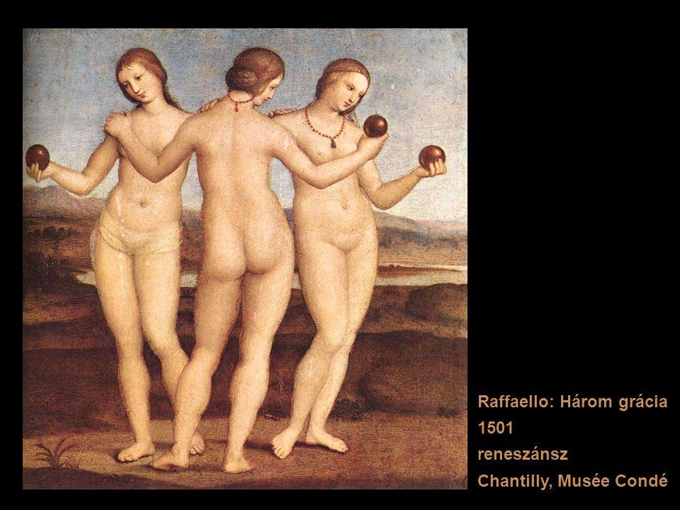 Raffaello: Három grácia 1501 reneszánsz Chantilly, Musée Condé
