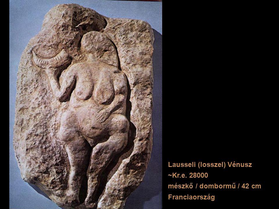 Lausseli (losszel) Vénusz ~Kr.e. 28000 mészkő / dombormű / 42 cm Franciaország