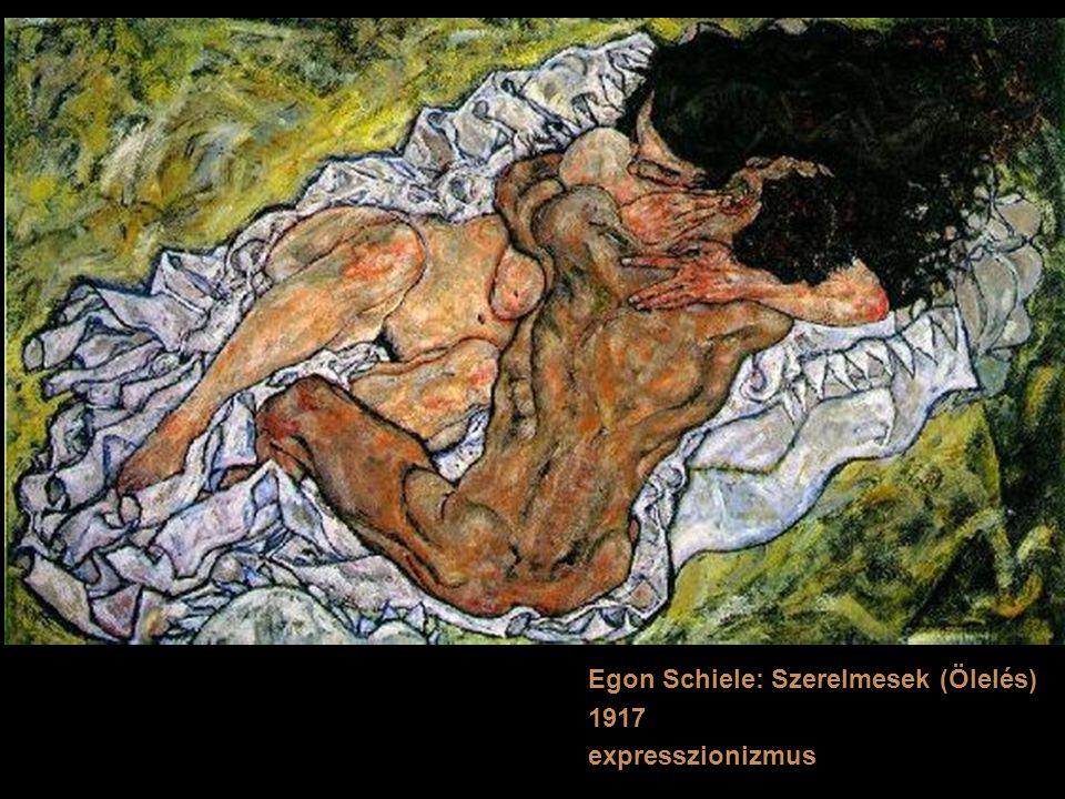 Egon Schiele: Szerelmesek (Ölelés) 1917 expresszionizmus
