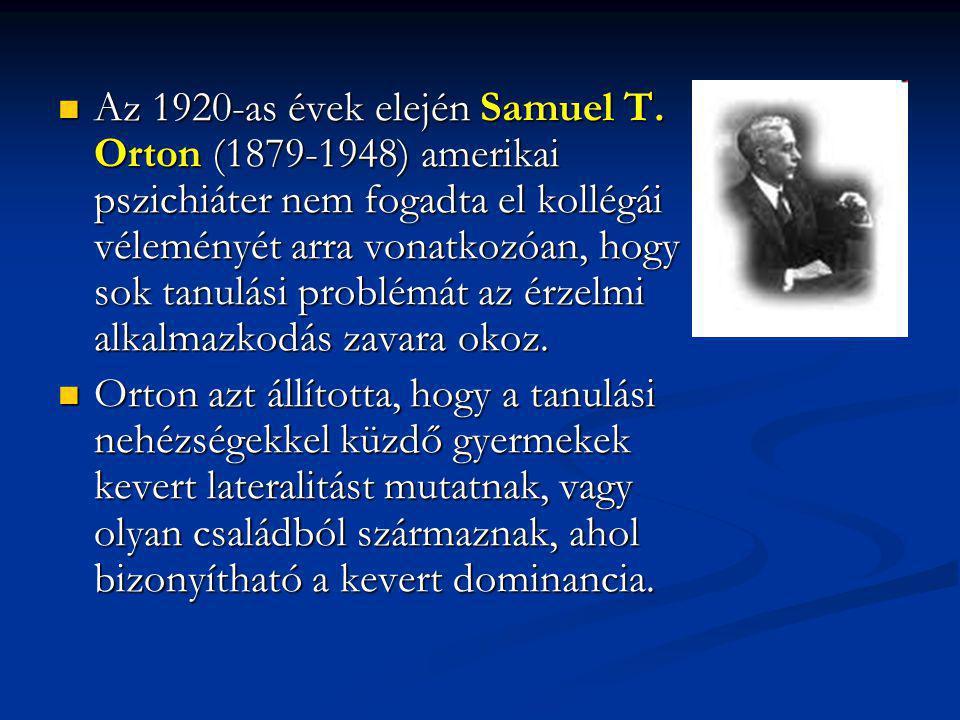 Az 1920-as évek elején Samuel T.