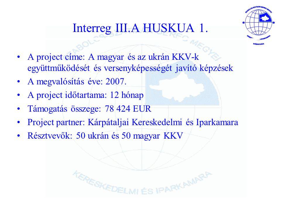 Interreg III.A HUSKUA 1.