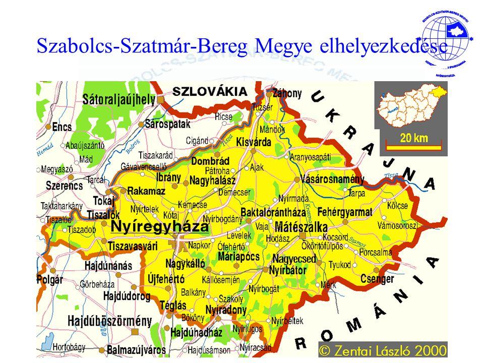 Szabolcs-Szatmár-Bereg Megye elhelyezkedése