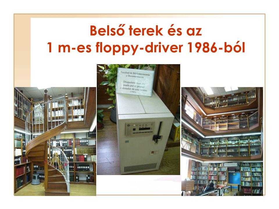 Belső terek és az 1 m-es floppy-driver 1986-ból
