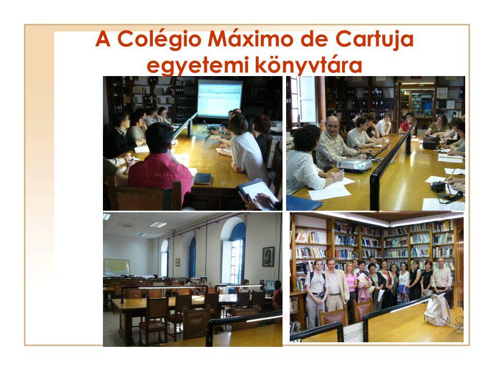 A Colégio Máximo de Cartuja egyetemi könyvtára