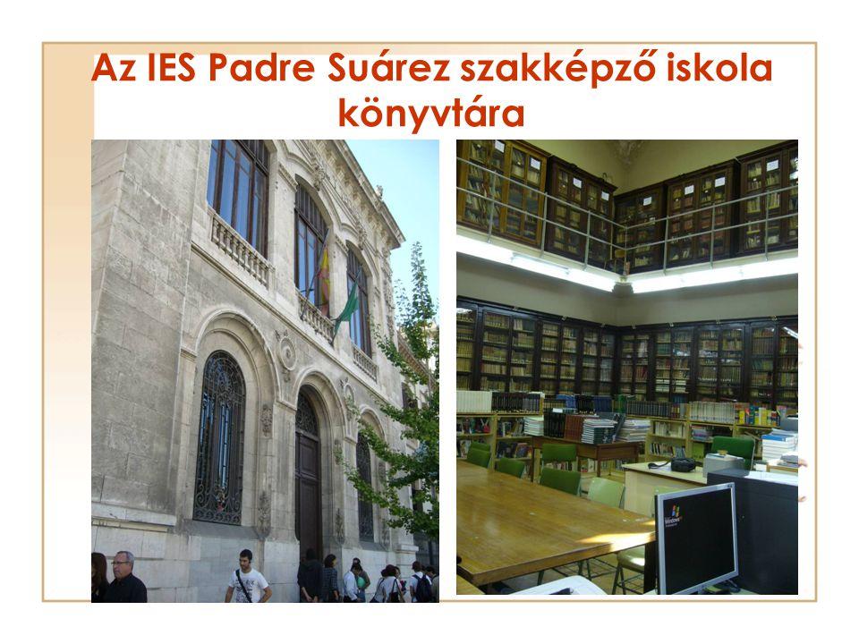 Az IES Padre Suárez szakképző iskola könyvtára