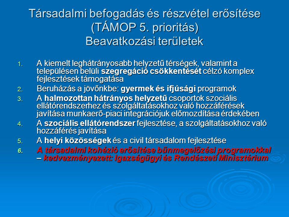 Társadalmi befogadás és részvétel erősítése (TÁMOP 5.