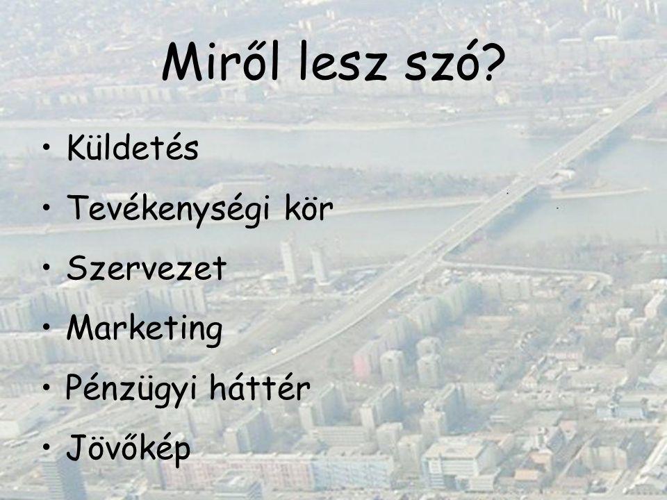 Miről lesz szó? Küldetés Tevékenységi kör Szervezet Marketing Pénzügyi háttér Jövőkép