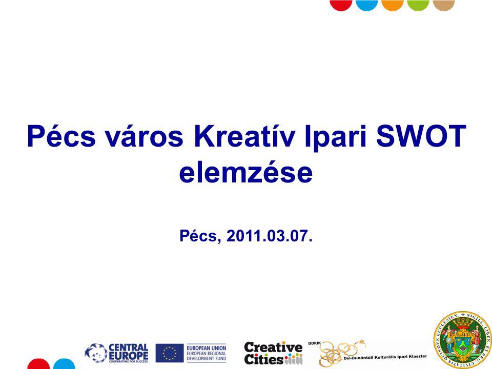 Put your logo here Pécs város Kreatív Ipari SWOT elemzése Pécs, 2011.03.07.