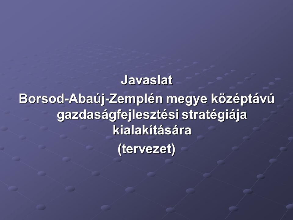 Javaslat Borsod-Abaúj-Zemplén megye középtávú gazdaságfejlesztési stratégiája kialakítására (tervezet)