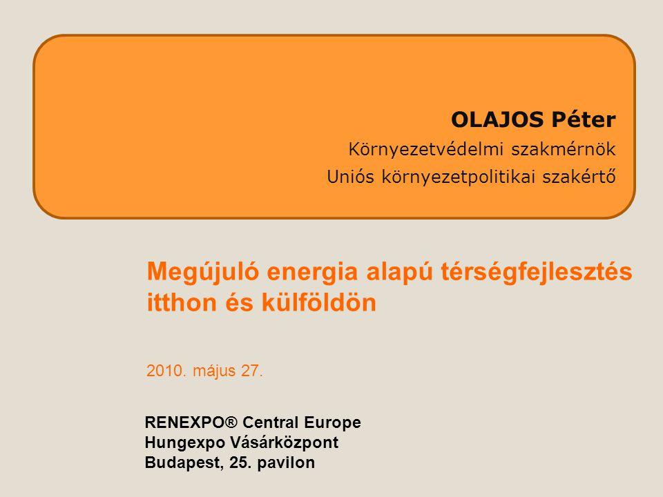 Szaktanácsadás(-i hálózat) Gazdák Lakosság részéreenergetikai tanácsadók Önkormányzatok és Energiaügynökségek: - 20e lakos felett - megyékben vagy - régiókban - kistérségi szinten.