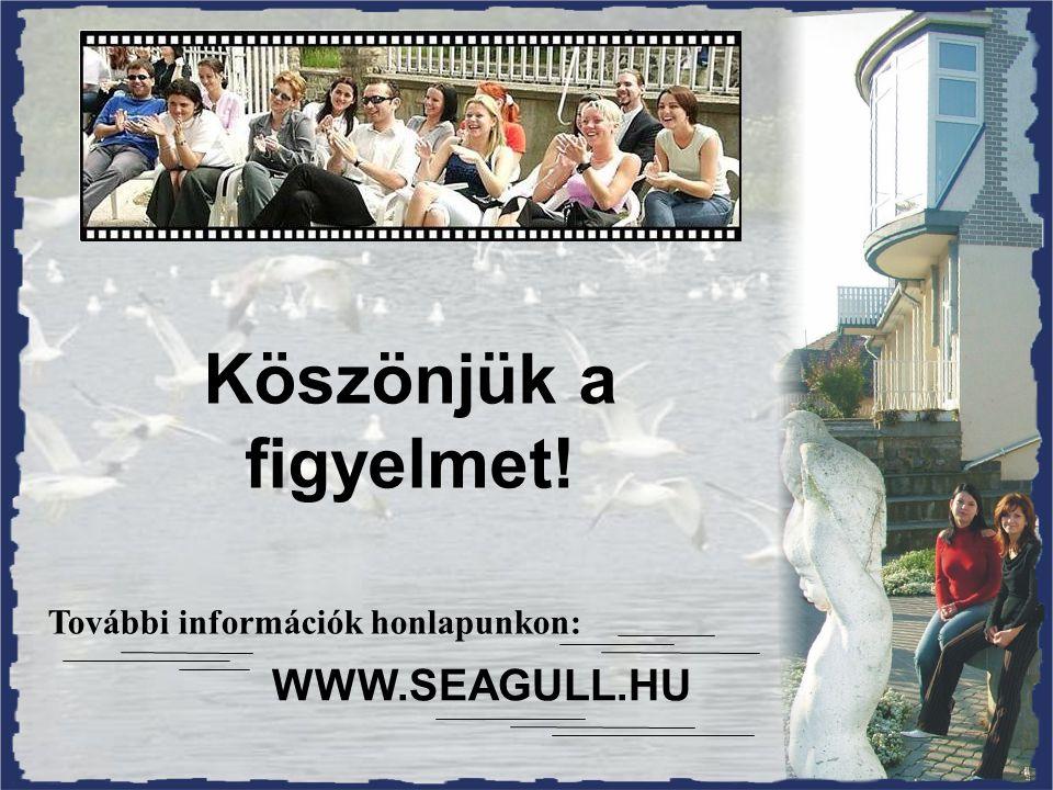 Köszönjük a figyelmet! WWW.SEAGULL.HU További információk honlapunkon: