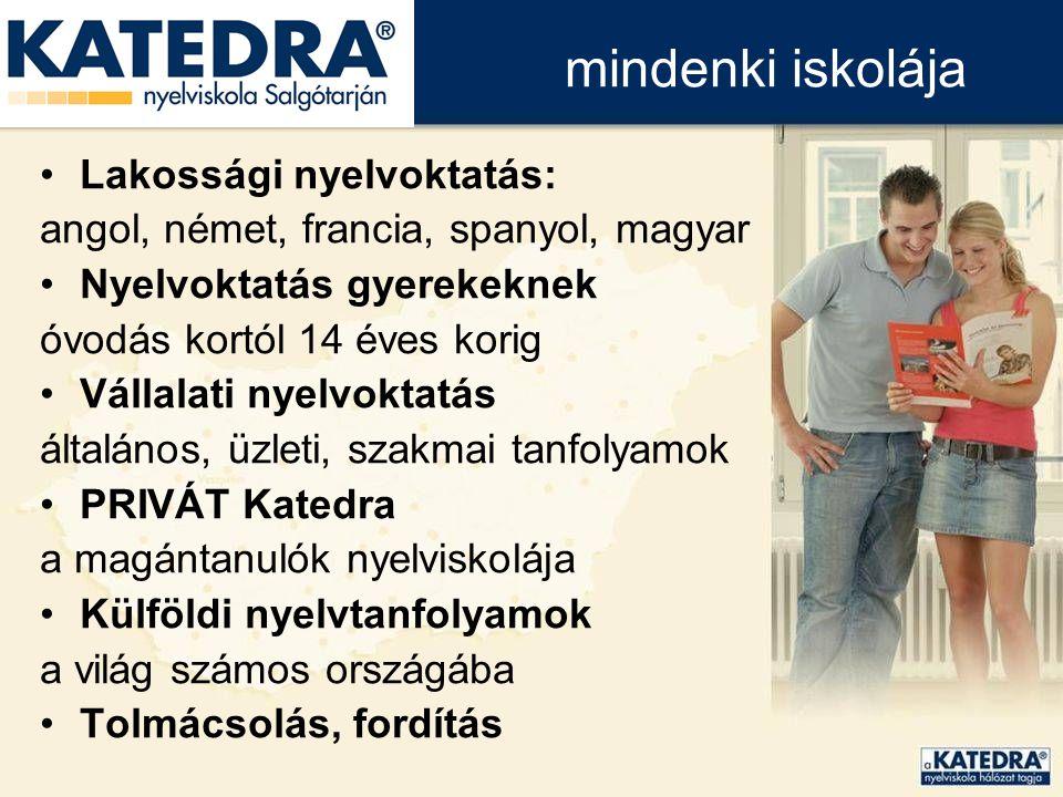 szakképzési, nyelvtanulási lehetőséget biztosítson hátrányos helyzetű fiatalok számára, egy állami feladatokat ellátó, közoktatási intézményben.