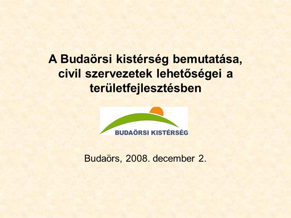 A Budaörsi kistérség bemutatása, civil szervezetek lehetőségei a területfejlesztésben Budaörs, 2008.