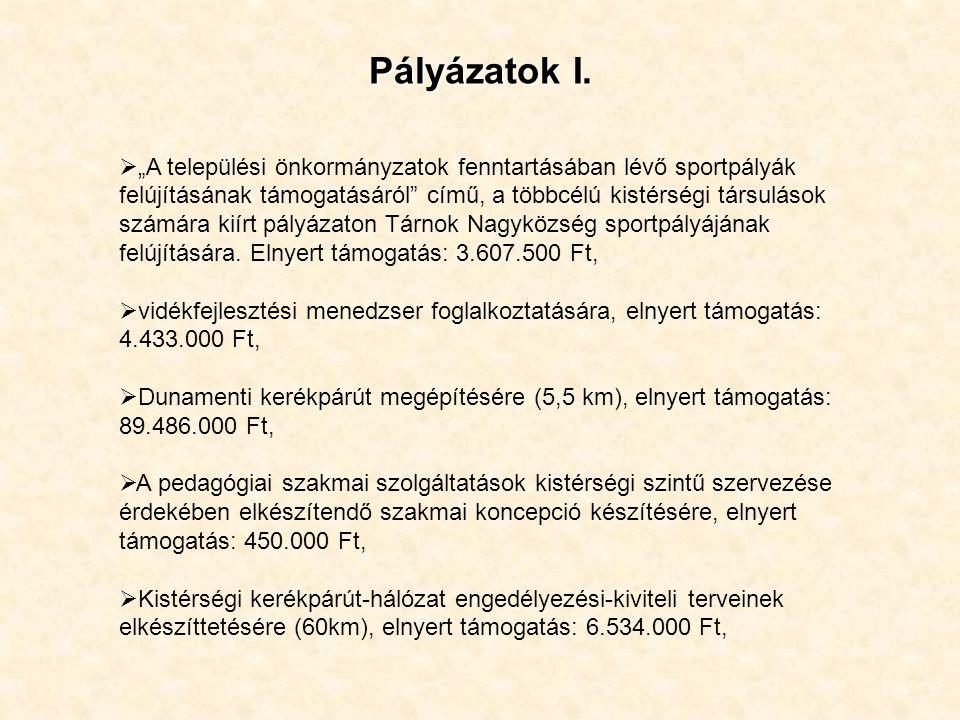 Pályázatok I.