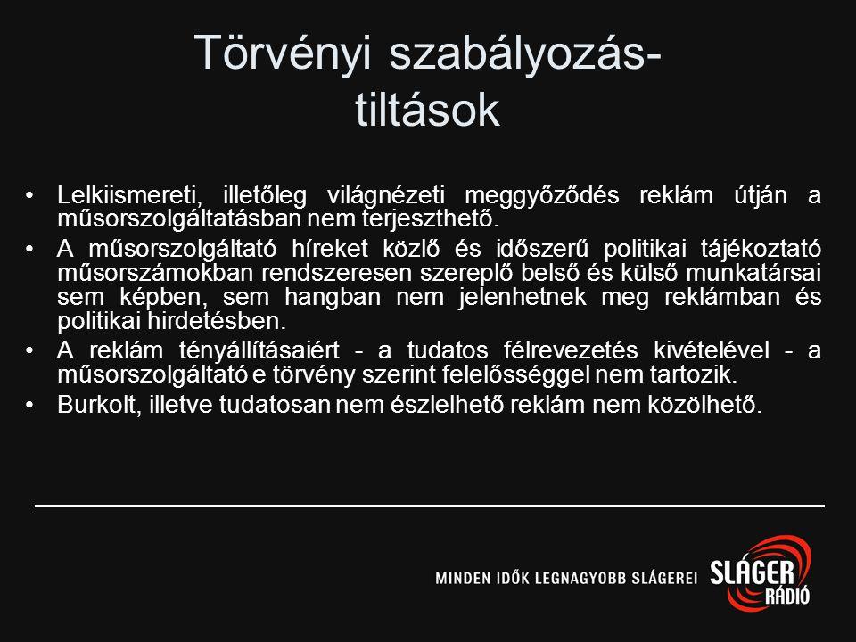 A műsorszolgáltató köteles tiszteletben tartani a Magyar Köztársaság alkotmányos rendjét, tevékenysége nem sértheti az emberi jogokat, és nem lehet al