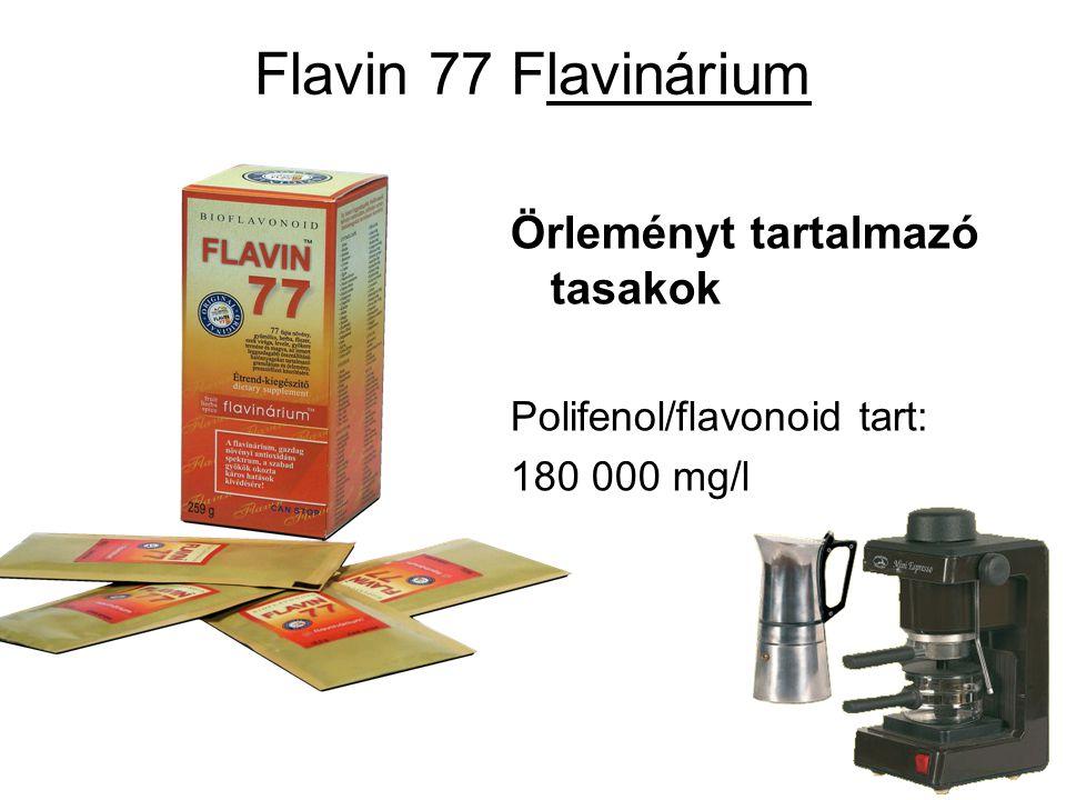 Flavin 77 Flavinárium Örleményt tartalmazó tasakok Polifenol/flavonoid tart: 180 000 mg/l