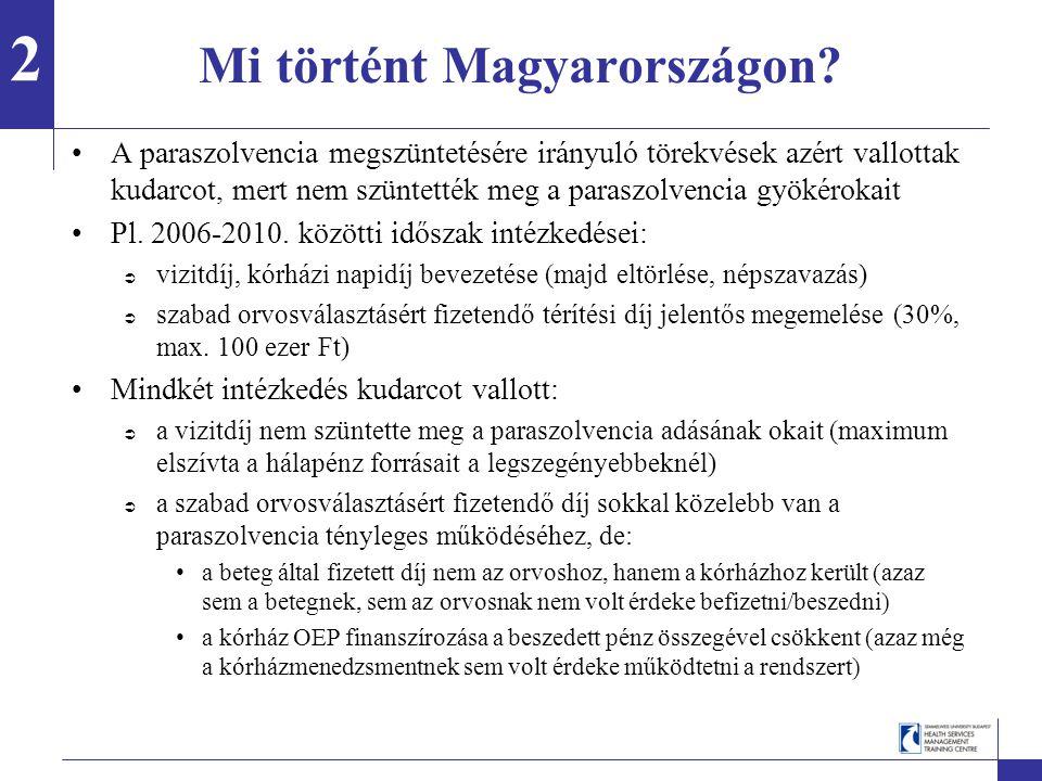 Mi történt Magyarországon.Mit kellene tehát ezen változtatni.