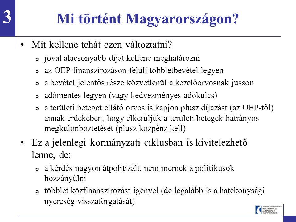 Mi történt Magyarországon. Mit kellene tehát ezen változtatni.