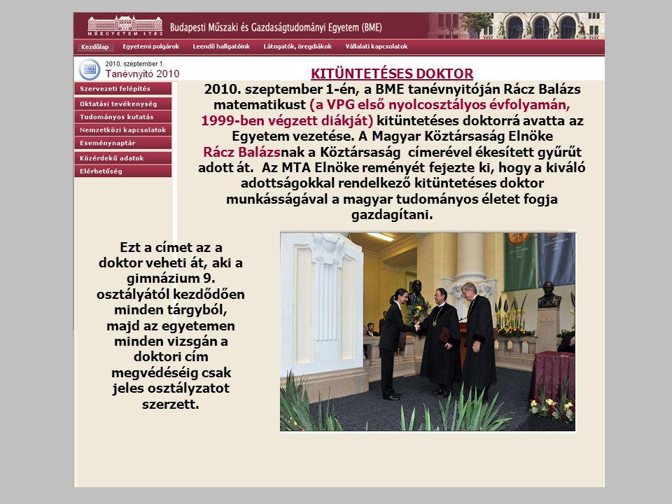 KITÜNTETÉSES DOKTOR 2010.