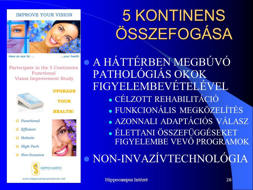 Hippocampus Intézet26 5 KONTINENS ÖSSZEFOGÁSA A HÁTTÉRBEN MEGBÚVÓ PATHOLÓGIÁS OKOK FIGYELEMBEVÉTELÉVEL CÉLZOTT REHABILITÁCIÓ FUNKCIONÁLIS MEGKÖZELÍTÉS
