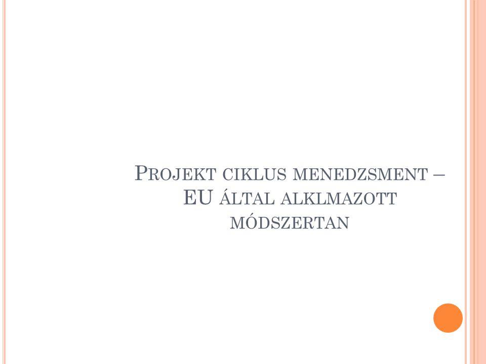 P ROJEKT CIKLUS MENEDZSMENT – EU ÁLTAL ALKLMAZOTT MÓDSZERTAN