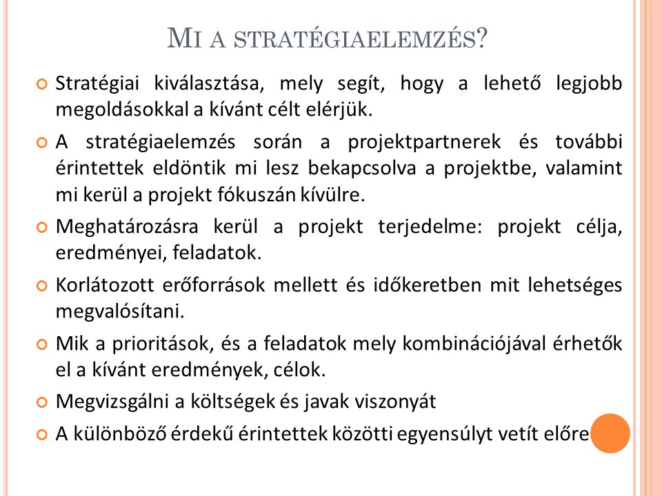 M I A STRATÉGIAELEMZÉS .