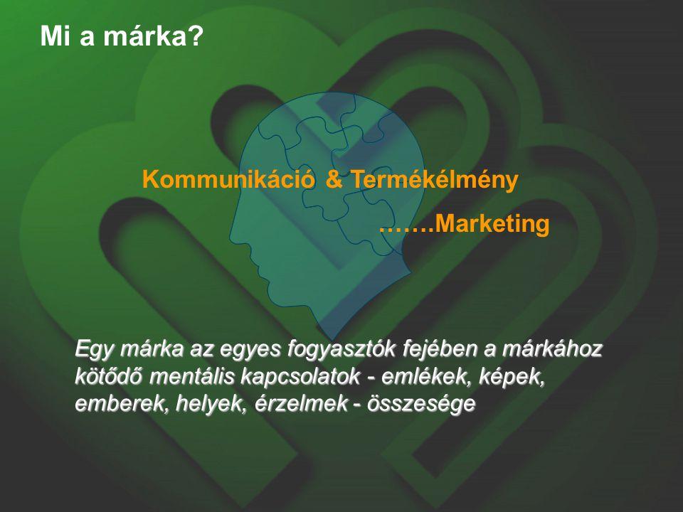 Mi a márka? Egy márka az egyes fogyasztók fejében a márkához kötődő mentális kapcsolatok - emlékek, képek, emberek, helyek, érzelmek - összesége Kommu