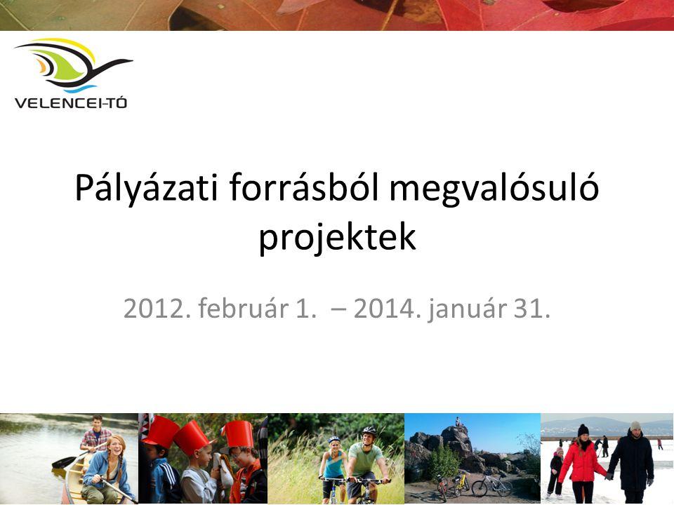 Pályázati forrásból megvalósuló projektek 2012. február 1. – 2014. január 31.