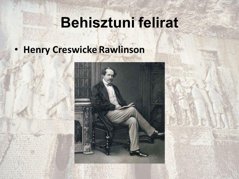 Behisztuni felirat Henry Creswicke Rawlinson