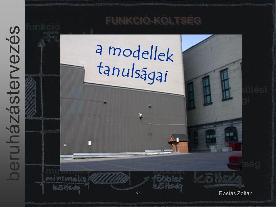 beruházástervezés 37 Rostás Zoltán a modellek tanulságai