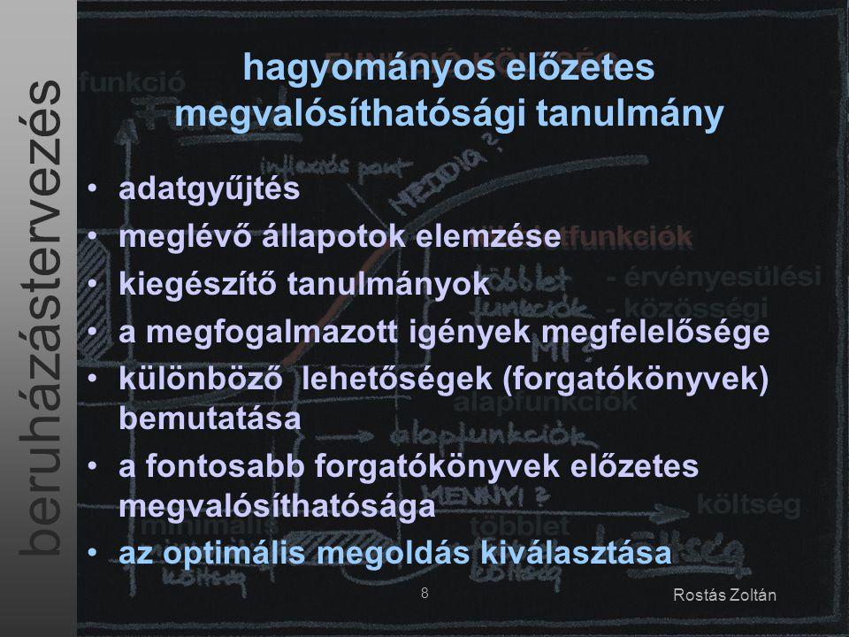 beruházástervezés 19 Rostás Zoltán