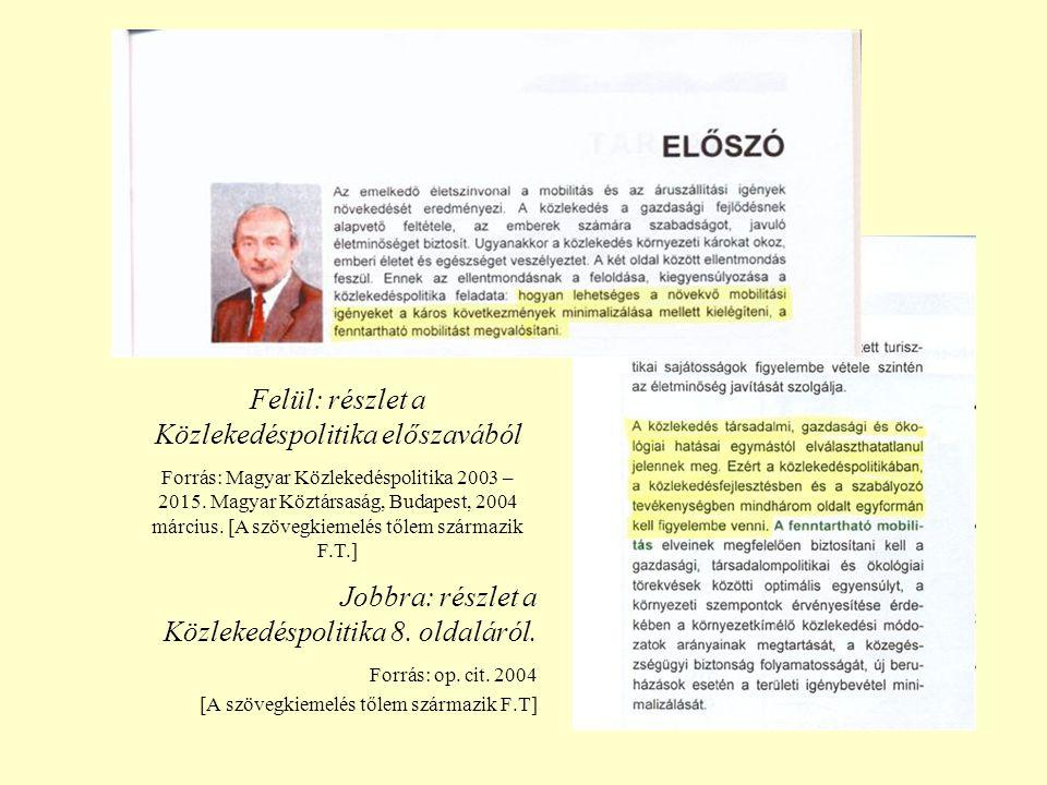 A MAGYAR KÖZLEKEDÉSPOLITIKA STRATÉGIAI KÖRNYEZETI VIZSGÁLATA Bevezetés.