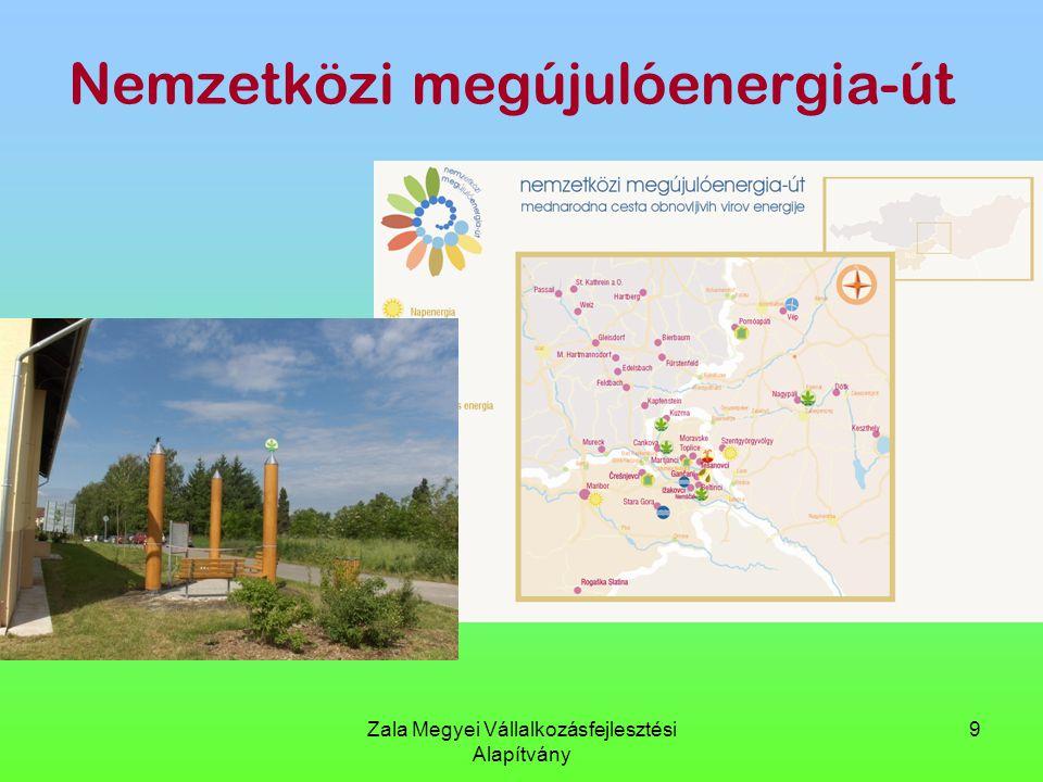 Zala Megyei Vállalkozásfejlesztési Alapítvány 9 Nemzetközi megújulóenergia-út