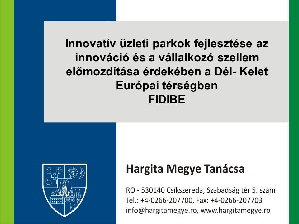 Innovatív üzleti parkok fejlesztése az innováció és a vállalkozó szellem előmozdítása érdekében a Dél- Kelet Európai térségben FIDIBE