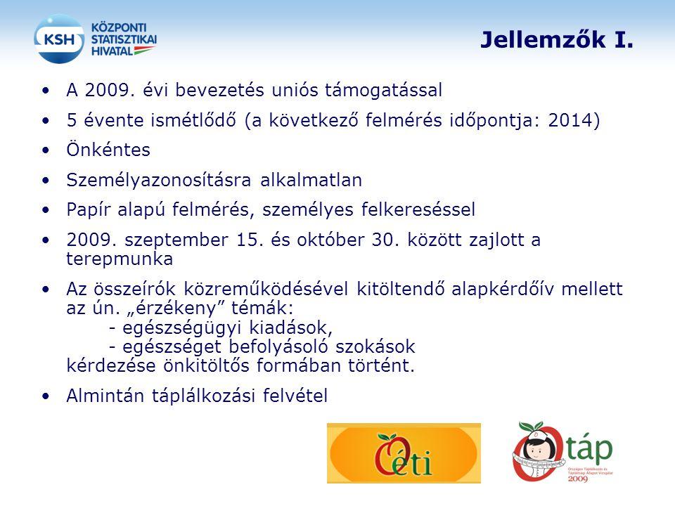 Jellemzők I. A 2009. évi bevezetés uniós támogatással 5 évente ismétlődő (a következő felmérés időpontja: 2014) Önkéntes Személyazonosításra alkalmatl