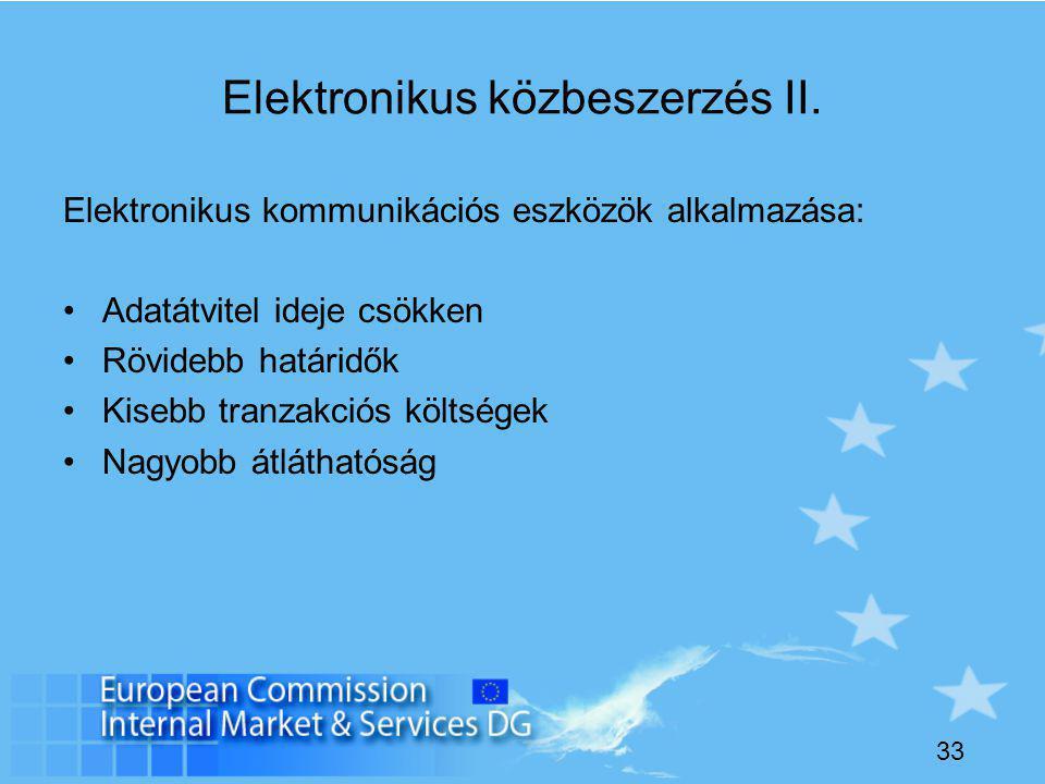 33 Elektronikus közbeszerzés II.