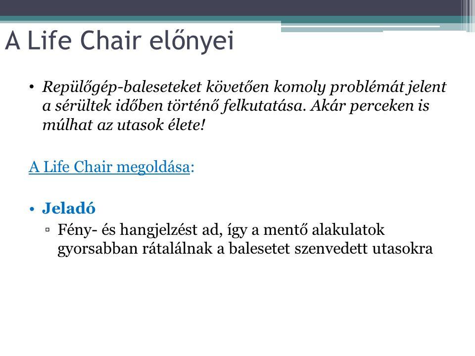 A Life Chair előnyei Repülőgép-baleseteket követően komoly problémát jelent a sérültek időben történő felkutatása. Akár perceken is múlhat az utasok é