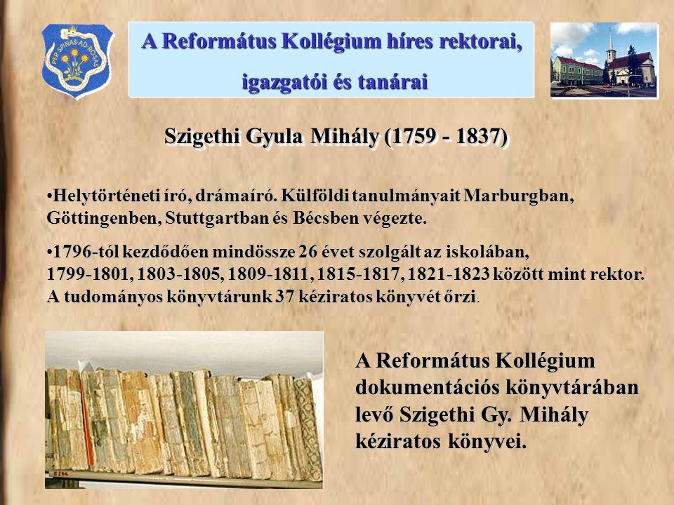Az egyetemet Kolozsváron végezte.1875-től a kollégium tanára, 1888-tól 1914-ig igazgatója.