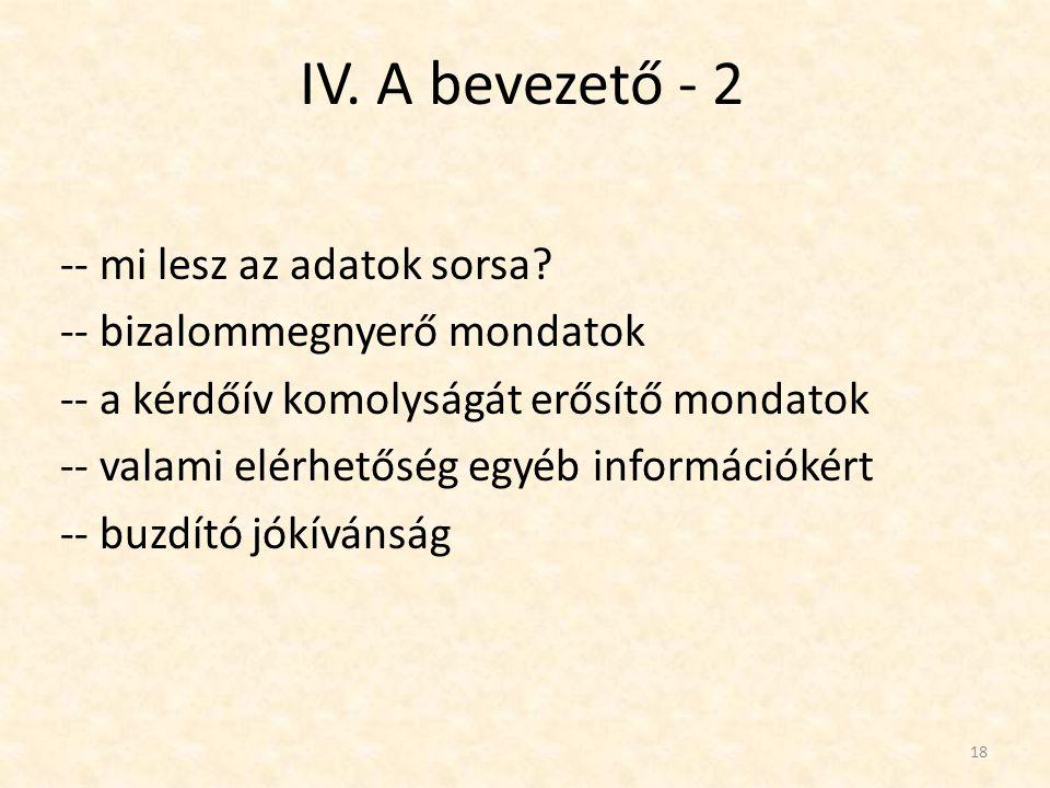 IV.A bevezető - 3 Két példa.
