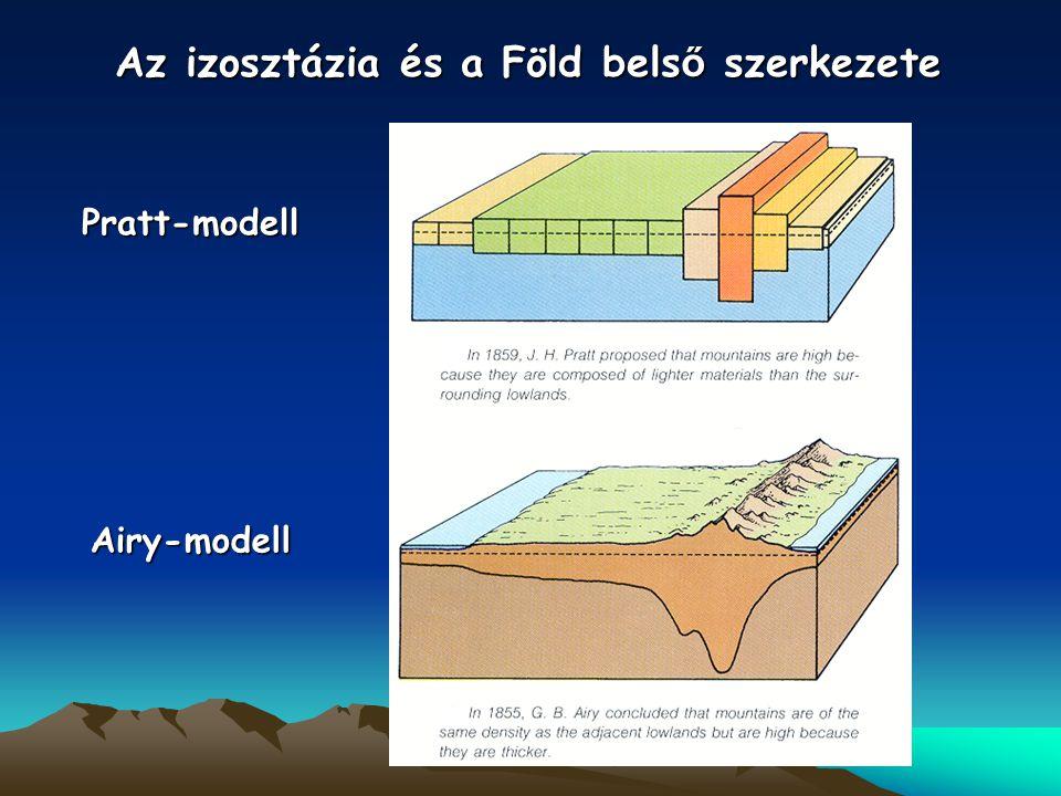 Pratt-modell Airy-modell Az izosztázia és a Föld bels ő szerkezete
