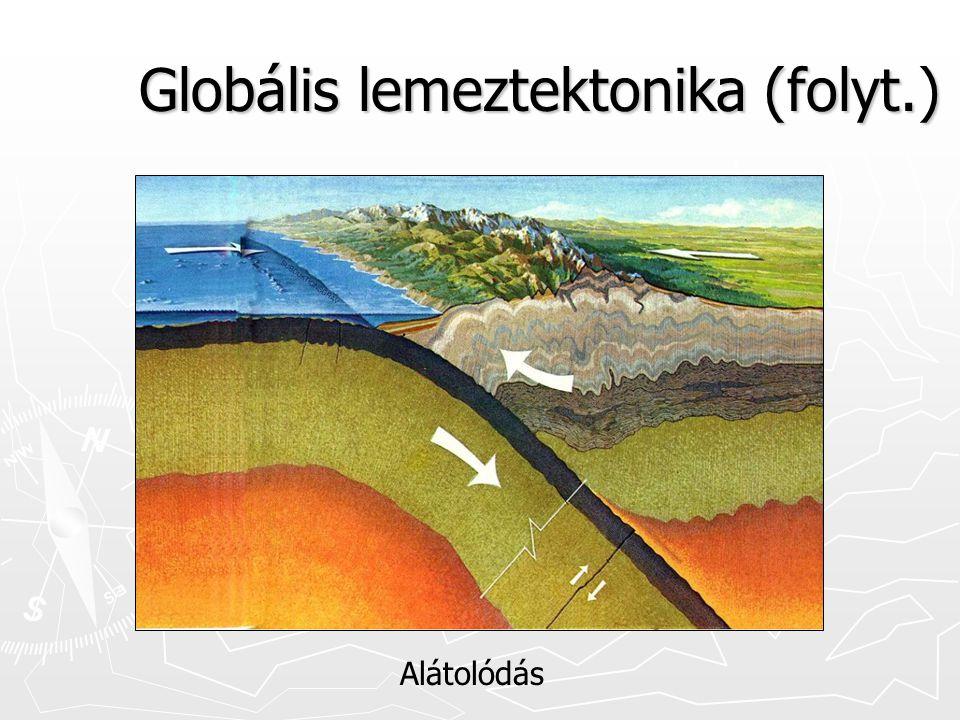 Globális lemeztektonika (folyt.) Alátolódás